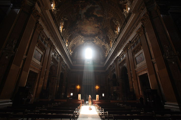 light in church